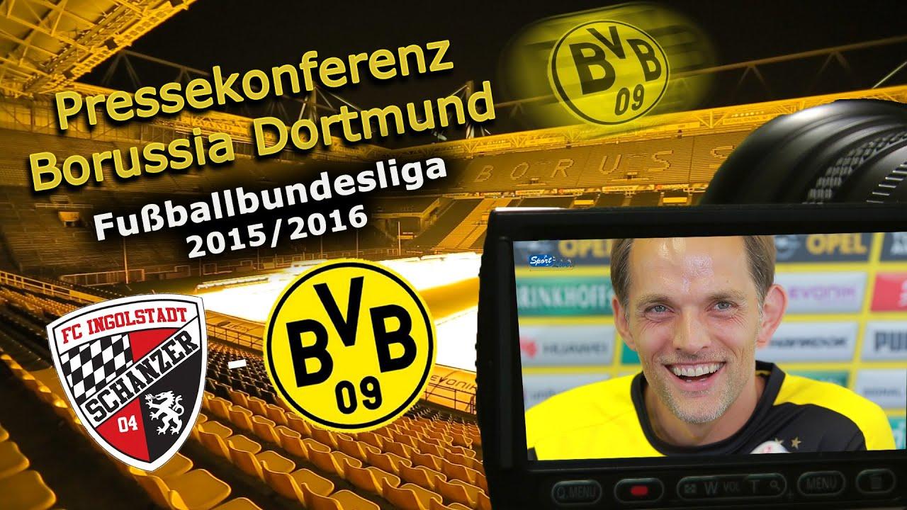 FC Ingolstadt - Borussia Dortmund: Pk mit Roman Bürki und Thomas Tuchel