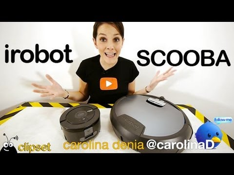 irobot scooba 230 y scooba 390 fregona robot review youtube. Black Bedroom Furniture Sets. Home Design Ideas