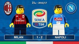 MILAN NAPOLI 1-2 • Serie A 2016/17 ( Film Lego Calcio ) Goal e Highlights