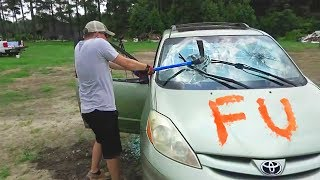 Destroying My Friend\'s Car And Surprising Him With A New One - Slime