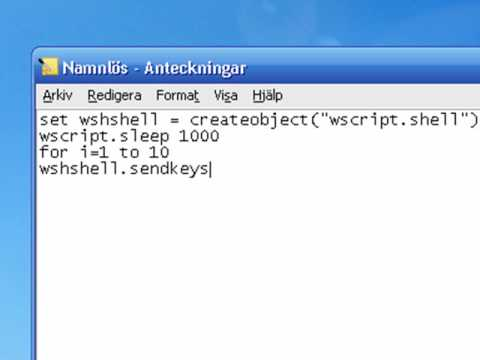 How to Spam people with a simple vbscript in a chat program