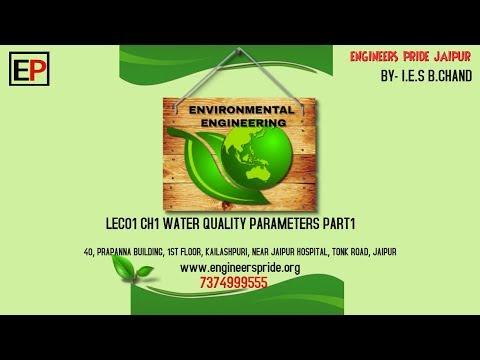 ENVIRONMENTAL ENGINEERING  LEC02 CH1 WATER QUALITY PARAMETERS PART2 IES B CHAND ENGINEERS PRIDE JAIP