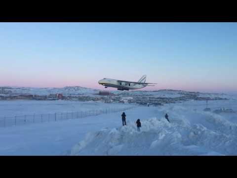 Antonov An-124 Landing at Iqaluit