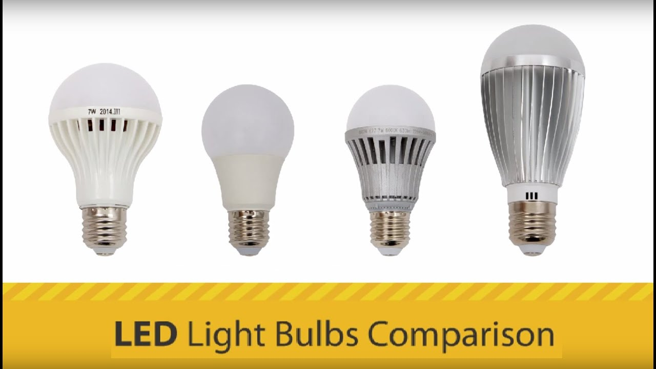Lovely LED Light Bulbs Comparison   YouTube