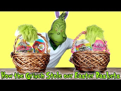 How The GRINCH STOLE Our EASTER BASKETS! with Ryan's World, L.O.L. Surprise & Poopsies!