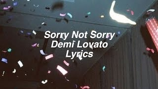 Sorry Not Sorry Demi Lovato Lyrics