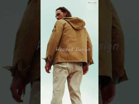 797525f1be7 Casual Work Multi Pockets Washed Cotton Hood Military Jackets for ...