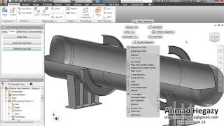 3D Modeling of a Pressure Vessel by using Autodesk Inventor, iLogic