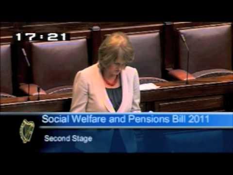 Minister Joan Burton speaking on the Social Welfare Bill
