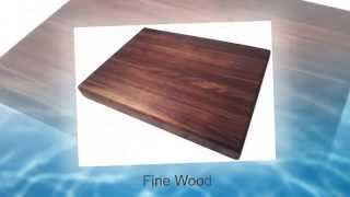 Edge Grain Walnut Butcher Block Cutting Board By Armani Fine Woodworking