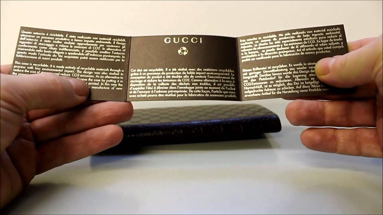 3def90d4878 Gucci Sunglasses Case Review - YouTube