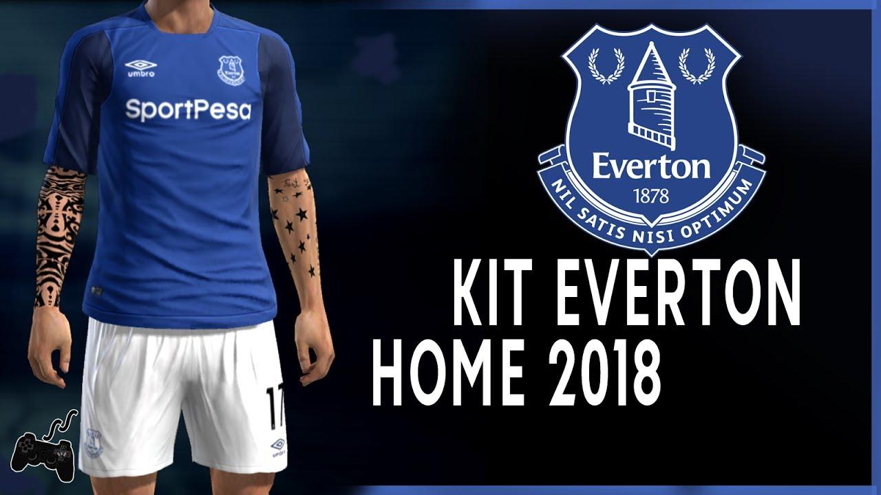 hot sale online 76b7a c46f6 Pes2013 || Everton • HOME Kit • 2018