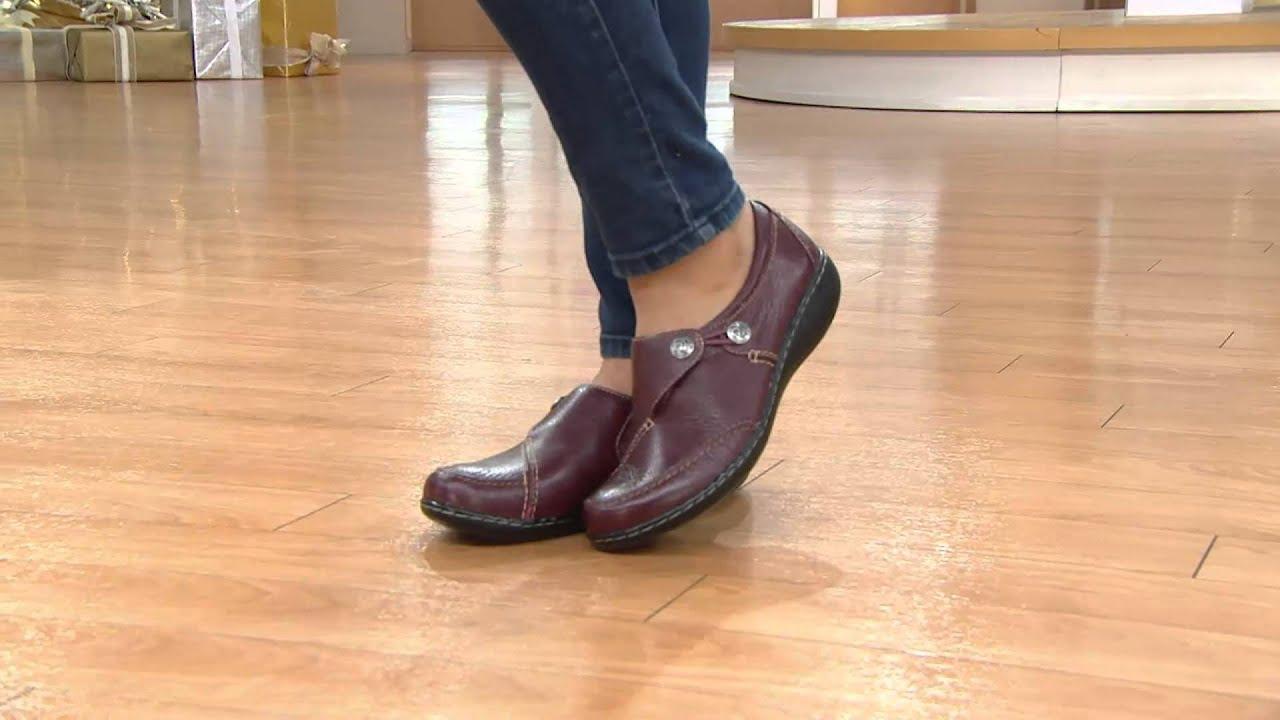 Clarks Leather Slip on Shoes Ashland Lane with Shawn Killinger