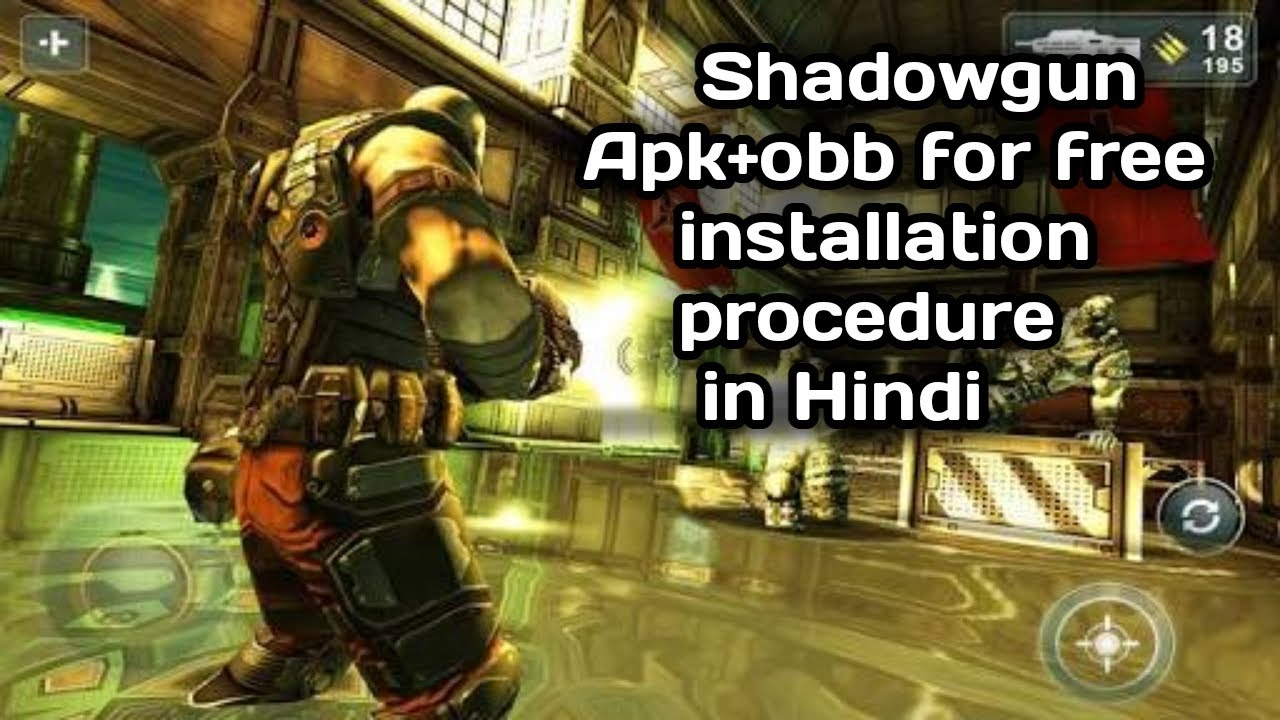 #Androidgames Shadow gun APK+OBB for free 100% working | Android Paid games  for free | In Hindi |
