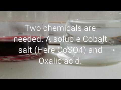 Preparation of Cobalt oxalate