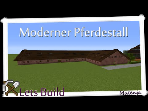 Minecraft - Moderner Pferdestall / Lets Build
