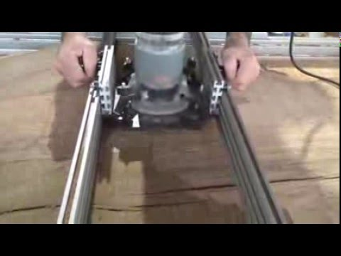 Surfacing Oak Slab With Router Sled Youtube