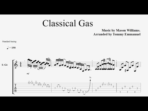 Classical Gas tommy emmanuel tab youtube ver Full