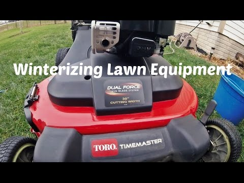 Lawn Update 36 - Winterizing The Lawn Equipment