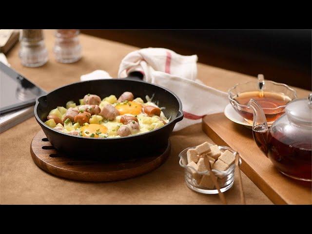 Fried Egg with Potato & Sausage