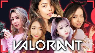 SHE GOT 34 KILLS?! FT. Pokimane, xChocobars, Fuslie, Starsmitten | Valorant Valkyrae Highlights