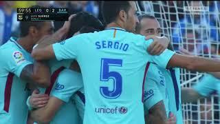 леганес - Барселона обзор матча 18.11.2017 футбол чемпионат Испании