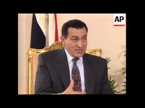 EGYPT: PRESIDENT HOSNI MUBARAK INTERVIEW