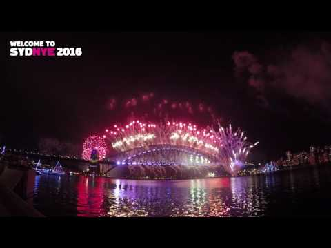 GoPro: Sydney New Years Eve Firework 2016/2017 Celebration Full Show - 4K