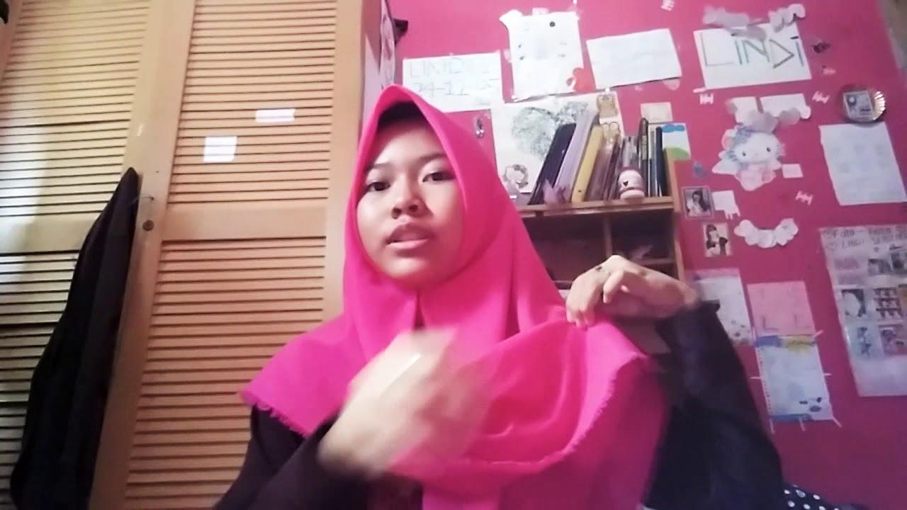 Cara Pakai Hijab Segi Empat Untuk Anak Sekolah Youtube