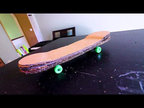 MAKING A CARDBOARD HANDBOARD?! *INSANE TRICKS*