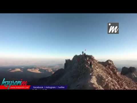 Azerbaycan'a destek için Erciyes Dağı'na zirve tırmanışı gerçekleştirildi