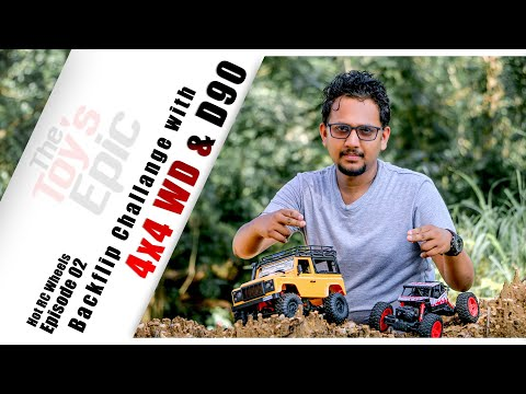 OFF ROAD EXTREME CHALLENGE Rock Crawler 4 wd  & D90 Rock Crawler Defender with The Toy's Epic Team