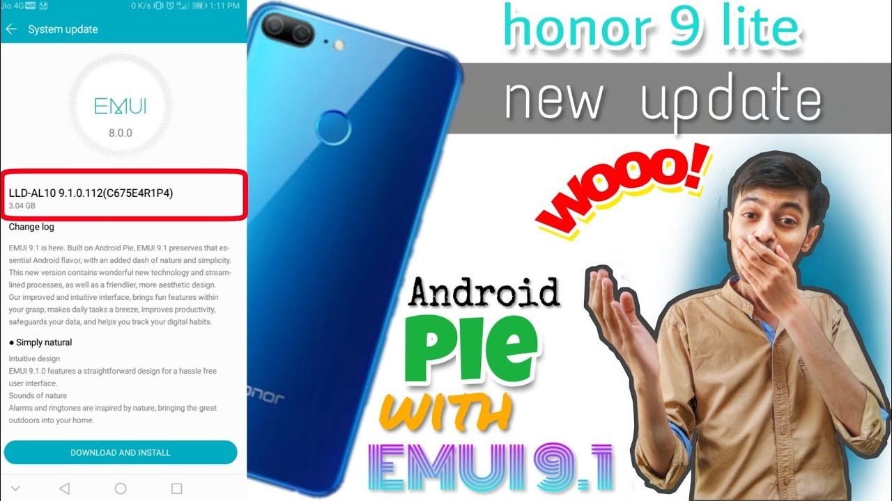 Honor 9 lite Official update of Android Pie with EMUI 9 1| How to  download  ??