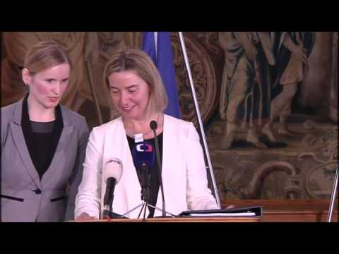 Joint press conference by Lubomír ZAORÁLEK, Czech Foreign Minister and HRVP MOGHERINI in Prague