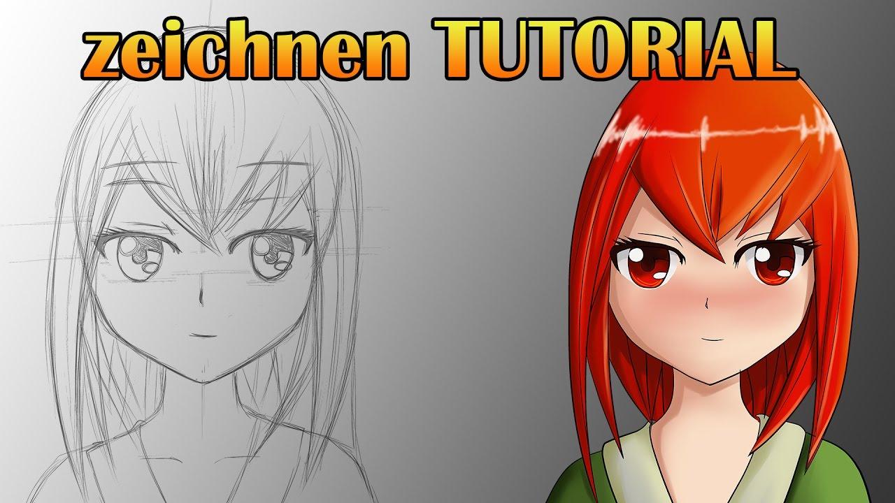Anime Zeichnen Tutorial Deutsch German Wacom Cintiq 13hd