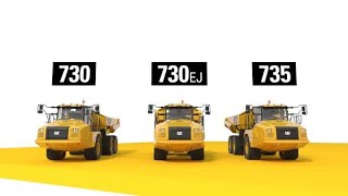 730, 730 EJ & 735 Cat® Articulated Trucks