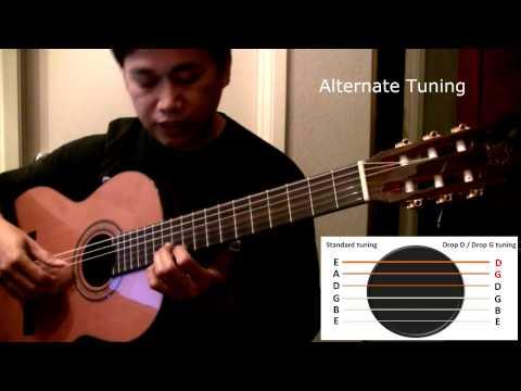 raffy's guitar 101 - alternate tuning lesson solo classical guitar