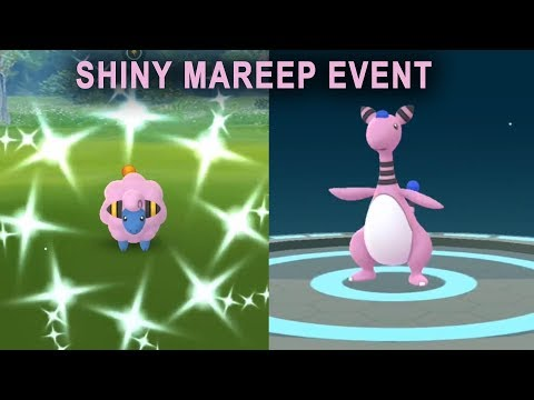 Shiny Mareep, Flaaffy, Ampharos in community day event!