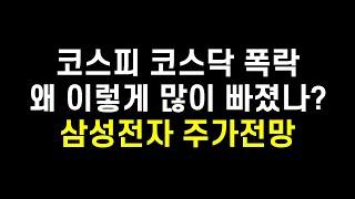 코스피 코스닥 폭락, 국내증시가 폭락한 이유는? 삼성전…