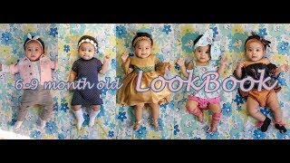 6 month old baby girl's LOOKBOOK ll Eliza Rehemat in 8 outfits