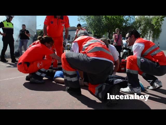 Vídeo Noticia: El colegio Antonio Machado acoge un simulacro de emergencias