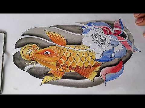 How To Draw Koi Fish-koi Fish Drawing For Tattoo