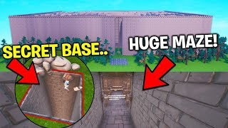 The PRO BUILDER Secretly Built This Maze.. WHATS UNDER WILL SHOCK YOU! (Fortnite)