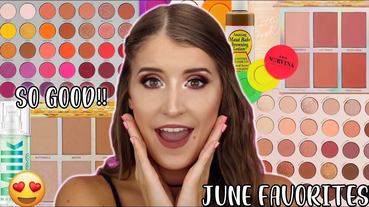 JUNE BEAUTY FAVORITES 😍 HUGE MAKEUP GIVEAWAY 🎉