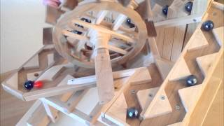 """Paul's marble machine """"fischtreppe"""" (fish ladder)"""