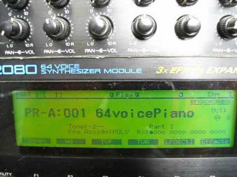 Roland JV-2080 Sound Module Putting in Multitimbral Mode