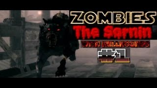 zombies on town call of duty black ops 2 with hellhounds part 1