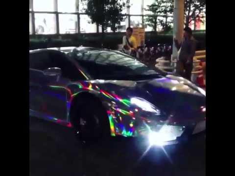 Crazy Chrome Rainbow Lamborghini Gallardo Youtube