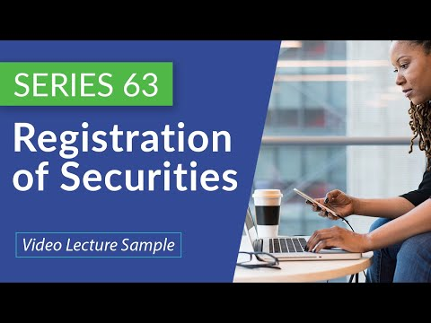 Series 63   Registration of securities, exempt securities