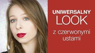 Uniwersalny look z czerwonymi ustami - Agnieszka